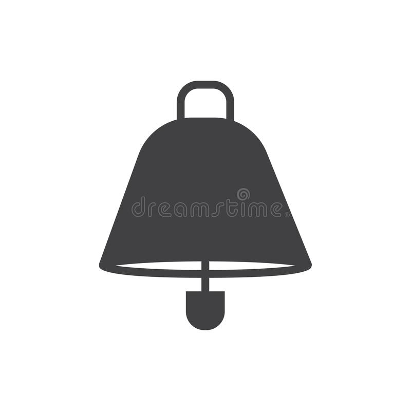 Campana alerta de la alarma del símbolo de la muestra del vector del icono de la campana libre illustration