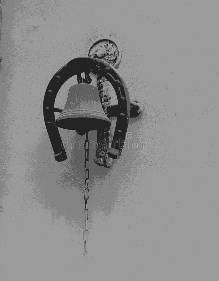 Campana blanco y negro foto de archivo libre de regalías