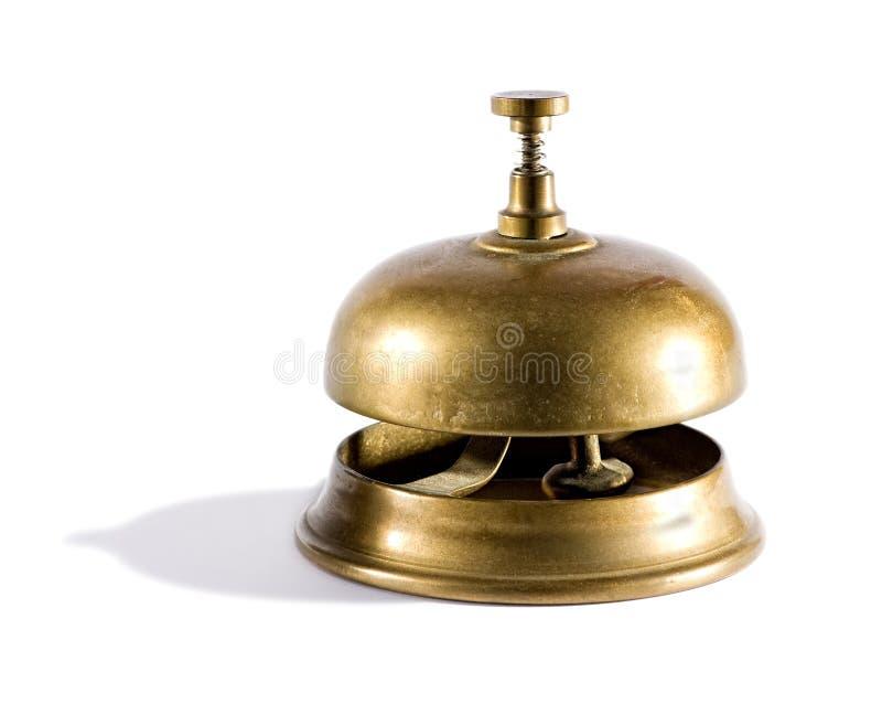 Campana de cobre amarillo del servicio del vintage fotos de archivo libres de regalías