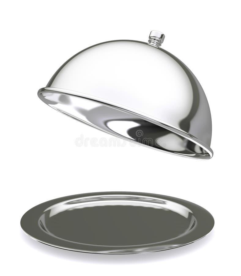 Campana de cristal del restaurante fotografía de archivo