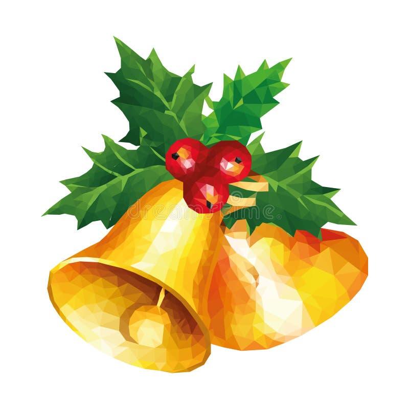 Campana de la Navidad polivinílica baja del arte moderno fotografía de archivo libre de regalías