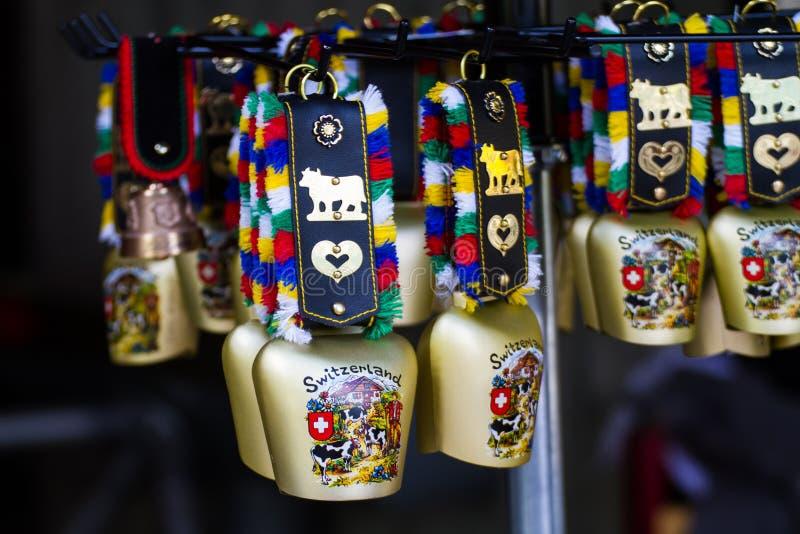 Campana de la vaca de Swizerland foto de archivo