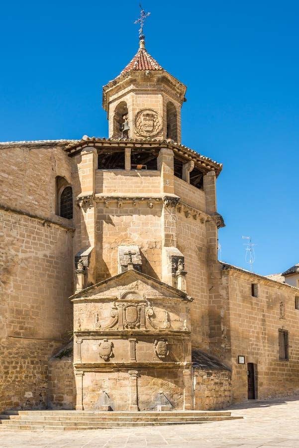 Campana della torre della chiesa di San Pablo a Ubeda, Spagna immagini stock