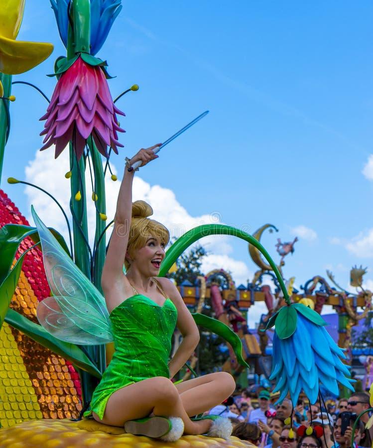 Campana dello stagnaio di parata di Orlando Florida Magic Kingdom del mondo di Disney fotografia stock libera da diritti