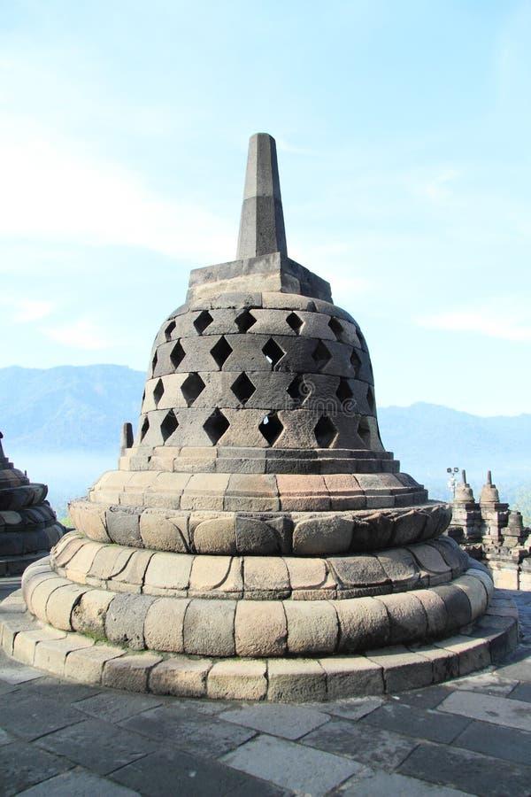 Campana di pietra su Borobudur fotografia stock