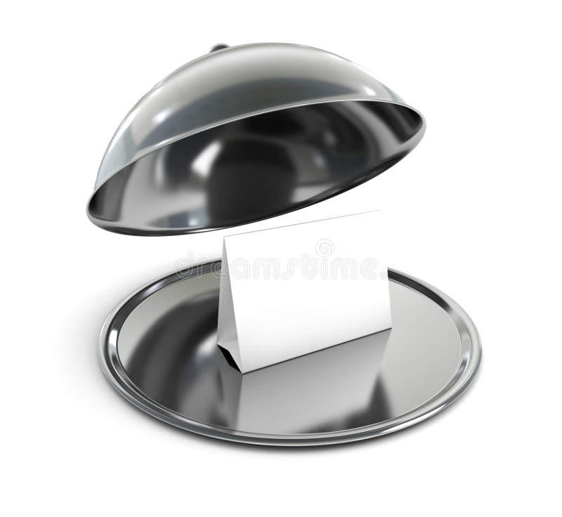 Campana di vetro del ristorante immagini stock