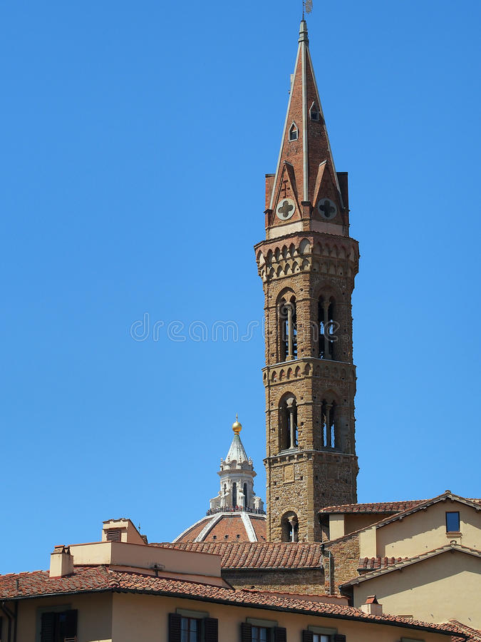 Campanario de Badia Fiorentina Church, Florencia, Italia imágenes de archivo libres de regalías