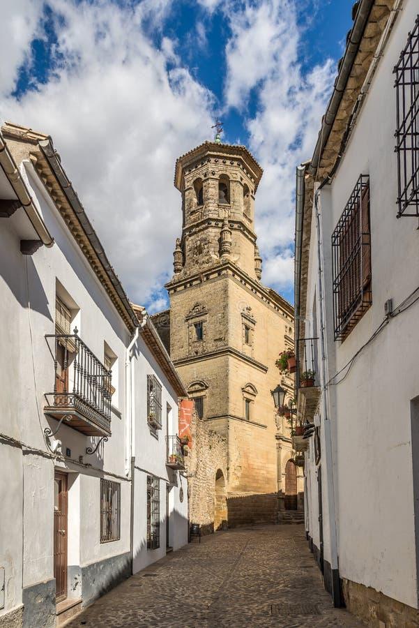 Campanario de la capilla de San Juan Evangelista en Baeza - España fotografía de archivo libre de regalías