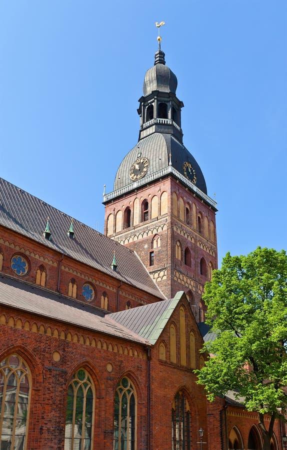Campanario de la catedral de la bóveda (1211), Riga, Letonia imagen de archivo