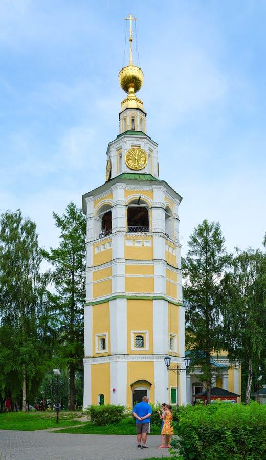 Campanario de la catedral de la Salvador-transfiguración de Uglich el Kremlin, Rusia fotos de archivo