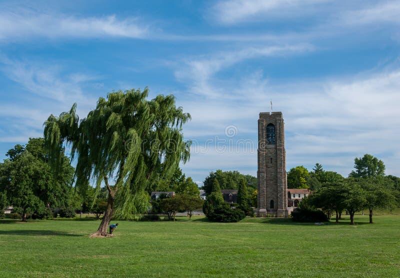 Campanario de Park Memorial Carillon del panadero - Frederick, Maryland imagenes de archivo