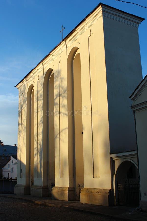 Campanario de San Pedro y de Paul Cathedral en Lutsk, Ucrania fotografía de archivo libre de regalías