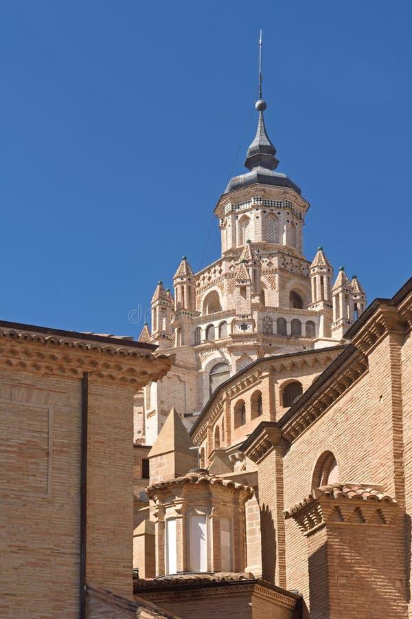 Campanario del Catheral provincia de Tarazona, Zaragoza, Arago foto de archivo