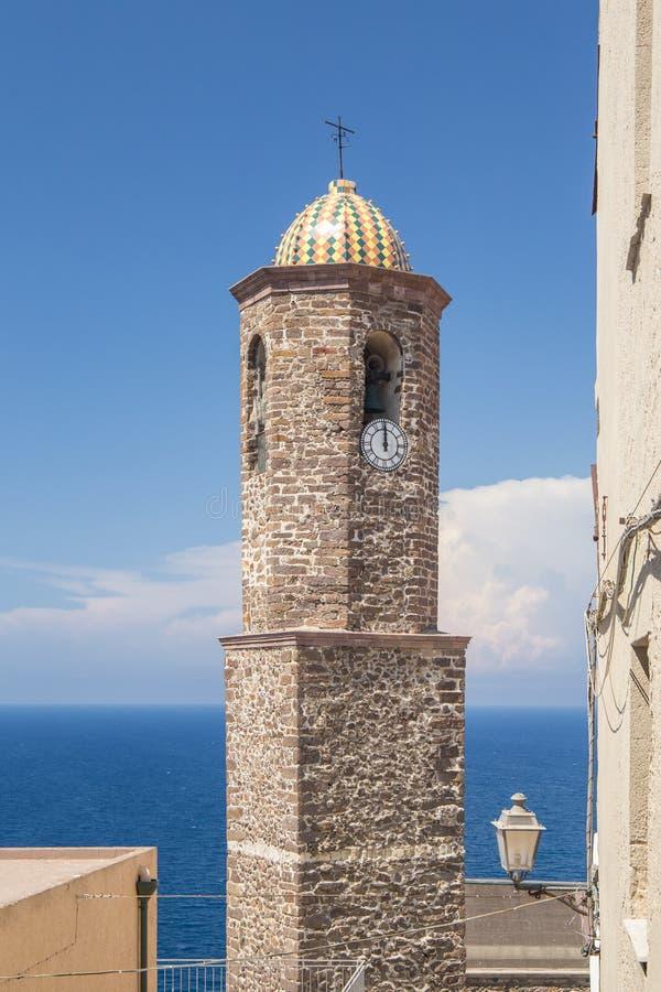 Campanario del Cattedral Antonio Abate fotos de archivo libres de regalías
