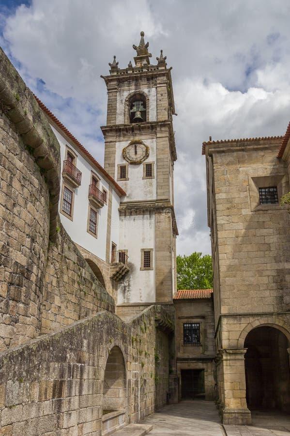Campanario del convento de Santa Clara en Amarante fotografía de archivo