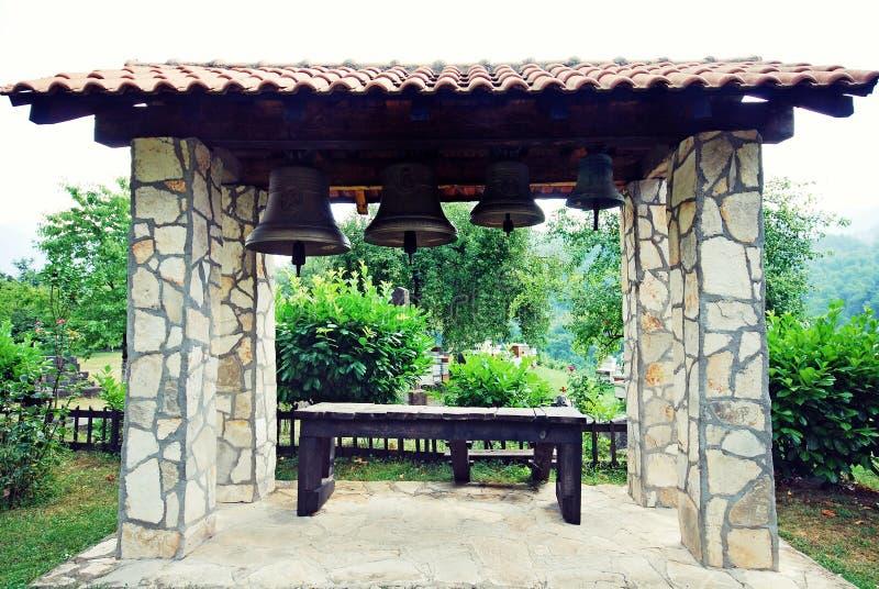 Campanario en el jardín, Montenegro foto de archivo libre de regalías