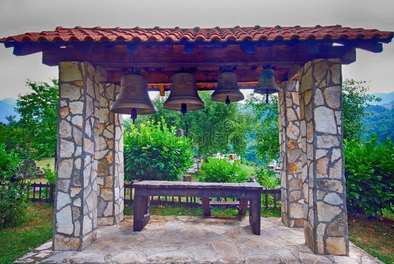Campanario en el jardín, Montenegro fotos de archivo libres de regalías