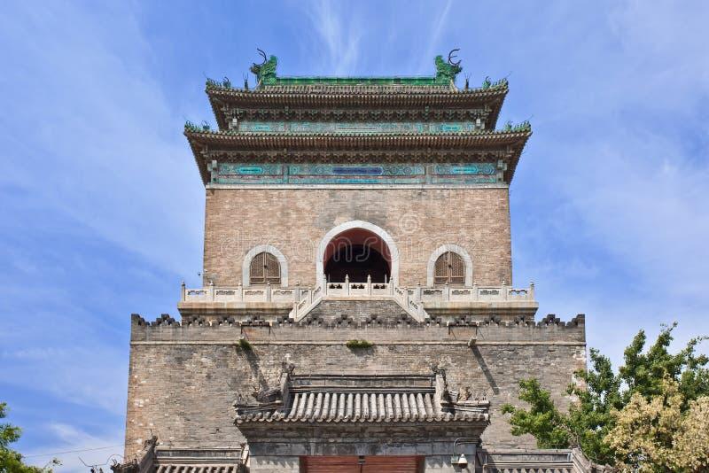 Campanario en la ciudad vieja de Pekín, China fotografía de archivo