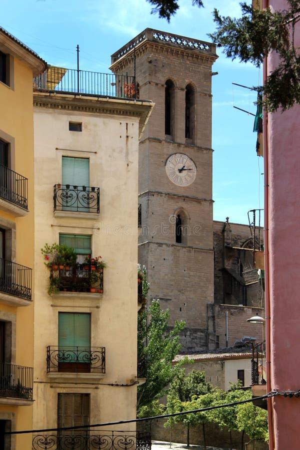 Campanario provincia de Manresa, Barcelona, imagen de archivo