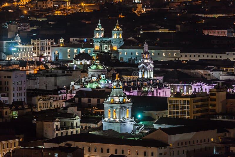 Campanarios de iglesias coloniales en Quito imágenes de archivo libres de regalías