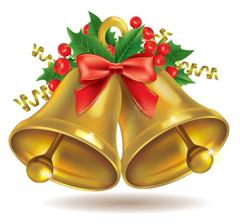 Campanas de la Navidad ilustración del vector