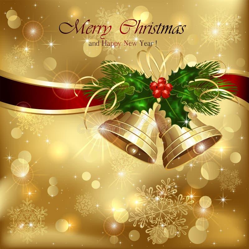 Campanas de la Navidad con la decoración libre illustration