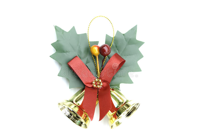Campanas de la Navidad en el fondo blanco foto de archivo