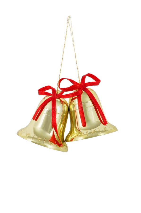 Campanas de oro imagen de archivo libre de regalías