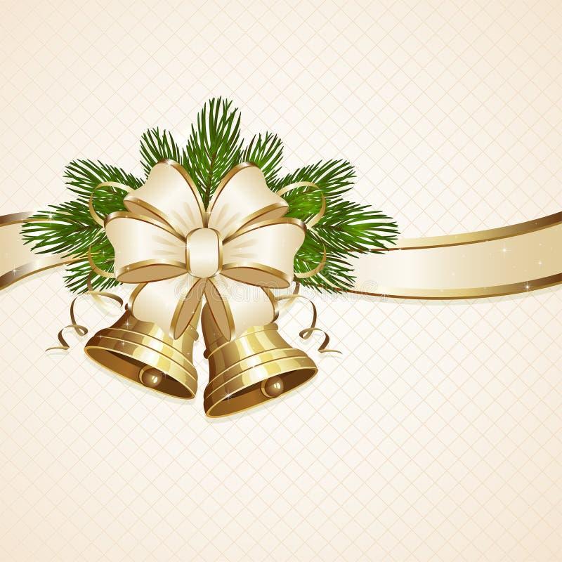 Campanas del arco y de la Navidad ilustración del vector