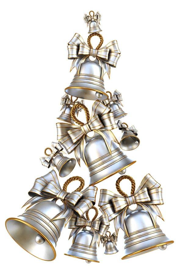 Campane d'argento decorative per il Natale ed il nuovo anno royalty illustrazione gratis