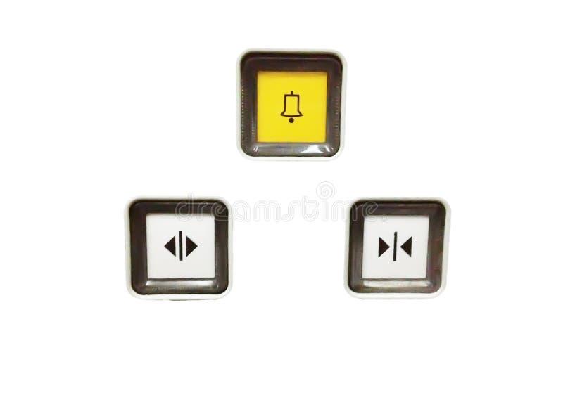 Campanello & bottone vicino aperto & del bottone fotografia stock