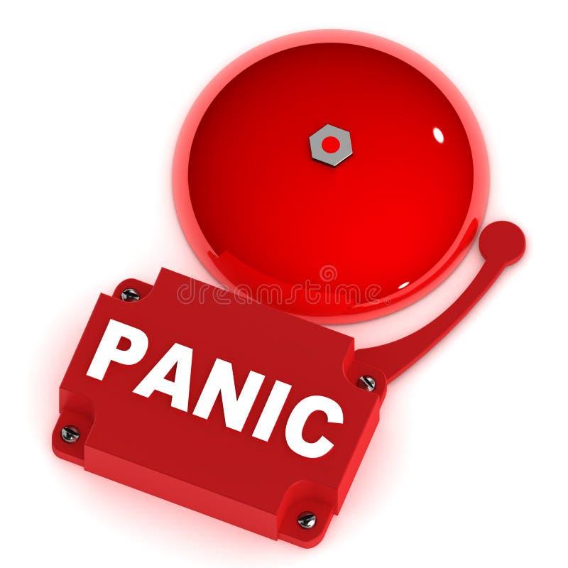 Campanello di allarme di panico illustrazione di stock