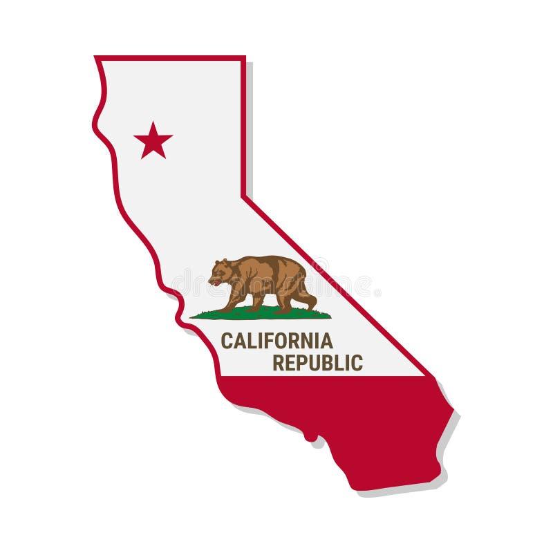 Campanha da independência de Califórnia Ilustração do vetor ilustração do vetor