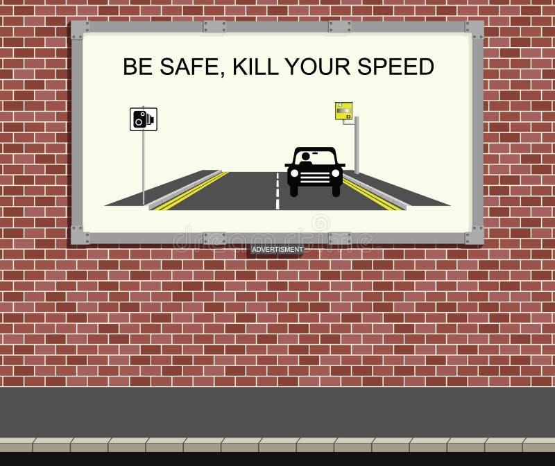 Campanha da velocidade ilustração stock