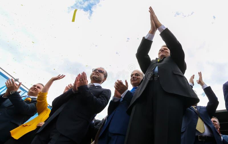 Campanha de eleições parlamentares europeia - Romênia foto de stock