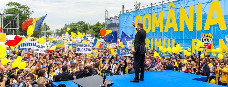 Campanha de elei??es parlamentares europeia - Rom?nia fotografia de stock