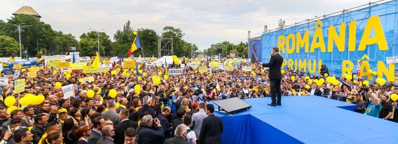 Campanha de elei??es parlamentares europeia - Rom?nia imagem de stock