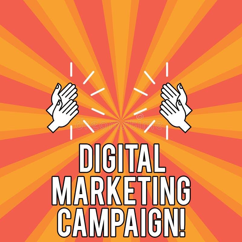 Campanha de marketing de Digitas do texto da escrita Esforço de mercado em linha do significado do conceito para anunciar o desen ilustração royalty free
