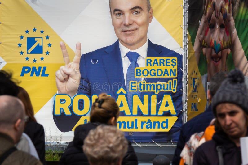 Campanha para eleições parlamentares europeias - Romênia imagens de stock royalty free
