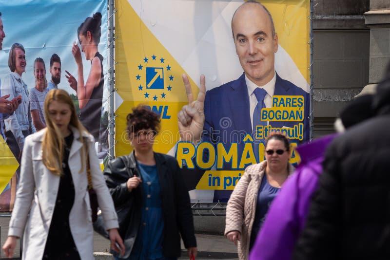 Campanha para elei??es parlamentares europeias - Rom?nia fotografia de stock