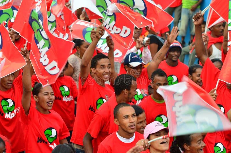 Campanha politica de Cabo Verde imagem de stock royalty free