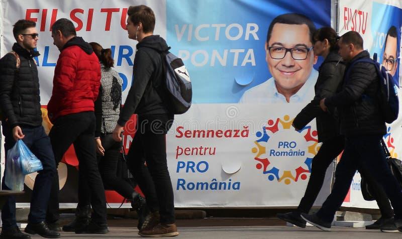 Campanha pré-eleitoral para eleições parlamentares europeias - Romênia fotos de stock royalty free