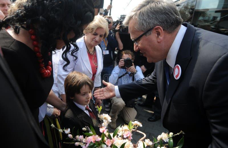 Campanha presidencial de Bronislaw Komorowski fotos de stock royalty free
