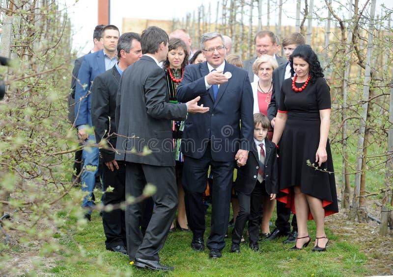 Campanha presidencial de Bronislaw Komorowski fotografia de stock