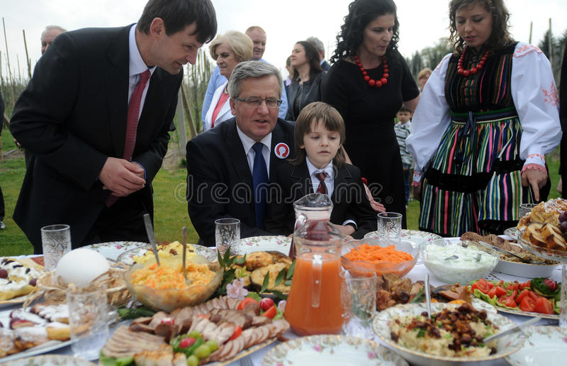 Campanha presidencial de Bronislaw Komorowski imagens de stock royalty free