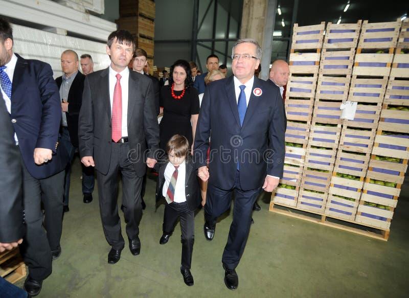 Campanha presidencial de Bronislaw Komorowski fotografia de stock royalty free