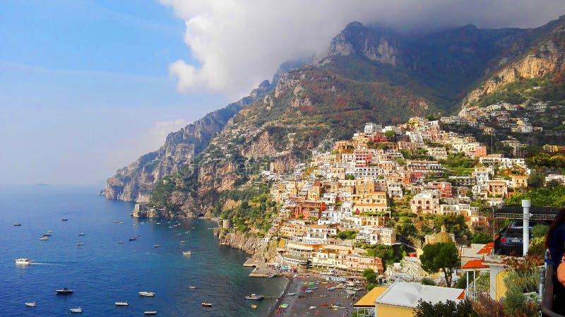 Campania Italia da costa do amalfitana de Positano fotografia de stock royalty free