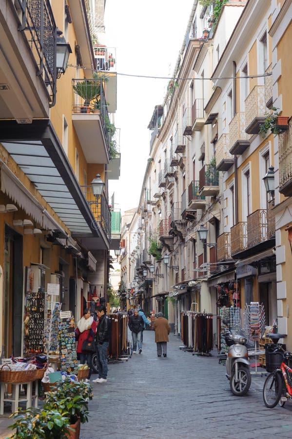 CAMPANIA, ITALY - JANUARY 19, 2010: typical Street at Sorrento royalty free stock photos