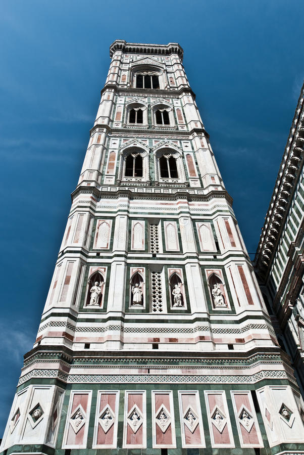 The Campanile, bell tower of Florence, Tuscany stock photography