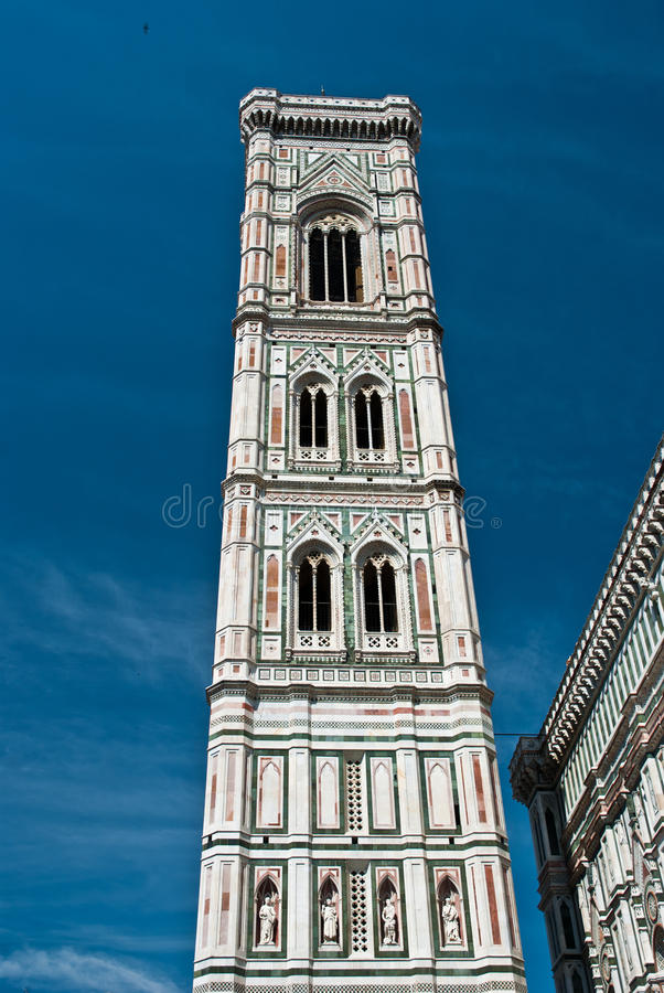 The Campanile, bell tower of Florence, Tuscany stock image